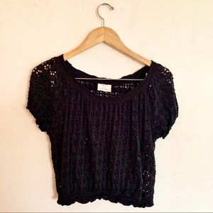 Pins & Needles by Anthropologie Eyelet Top